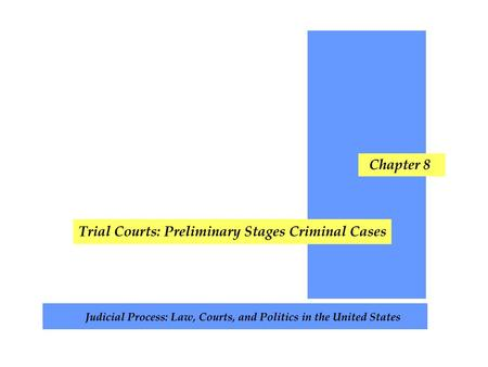 Chapter Topics Crime Policing Arrests The Defendant Prosecution Grand Juries Exclusionary Rules Case Attrition The Criminal Justice Wedding Cake.