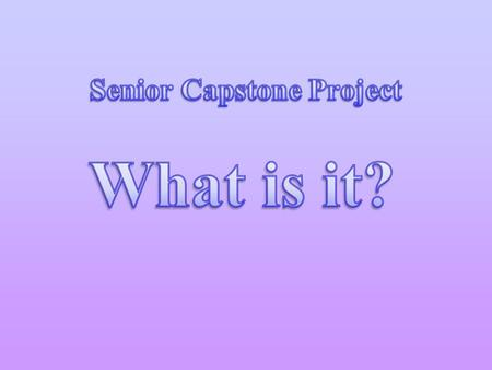 Good Capstone Project Ideas and Topics