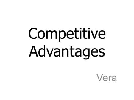 Competitive Advantages Vera. Two different brands of Wedding Gowns.