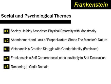 frankenstein effects isolation and rejection Below is an essay on isolation and neglect in frankenstein from anti essays, your source for research papers, essays, and term paper examples mother teresa once said, the most terrible poverty is loneliness, and the feeling of being unloved.