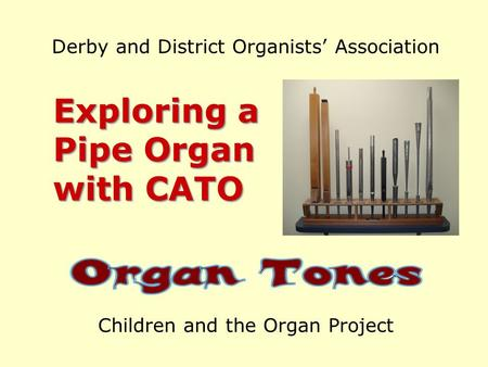 Derby and District Organists Association Exploring a Pipe Organ with CATO Children and the Organ Project.