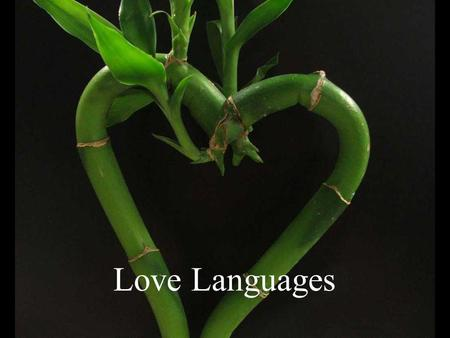 Love Languages. Speaking different languages makes good communication difficult.