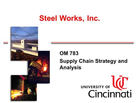OM 783 Supply Chain Strategy and Analysis