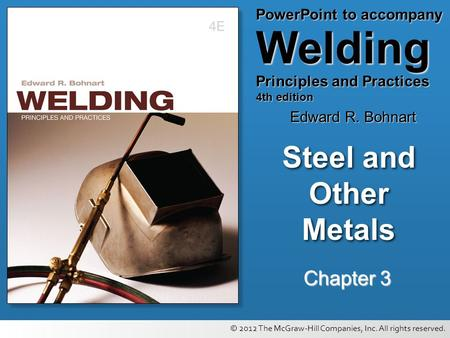 Steel and Other Metals <strong>Chapter</strong> 3.