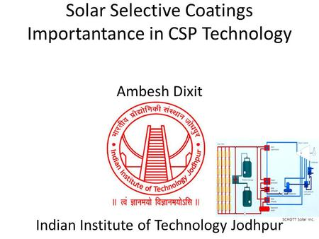 Solar Selective <strong>Coatings</strong> Importantance in CSP Technology