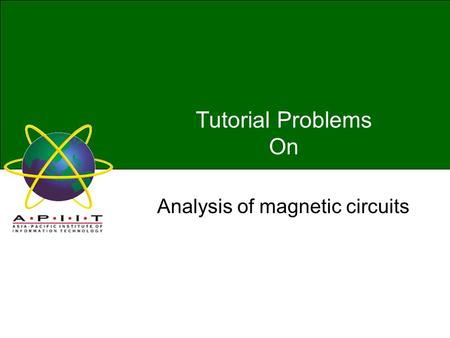 Analysis of magnetic circuits