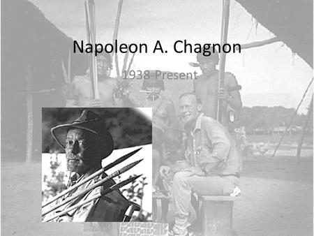 Napoleon A. Chagnon 1938-Present. Napoleon A. Chagnon Best known for his extensive ethnographic fieldwork among the Yanomamö Began his fieldwork in 1964.