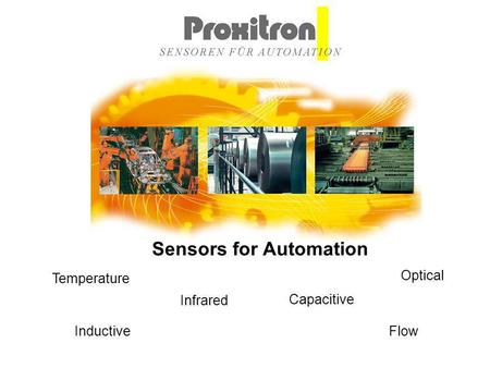 Inductive Capacitive Optical Infrared Flow Temperature Sensors for Automation.