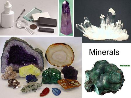 Minerals. Mineral Definition A naturally occurring, inorganic solid that has a crystalline structure and a definite chemical composition. There are about.
