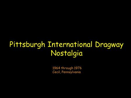 Pittsburgh International Dragway