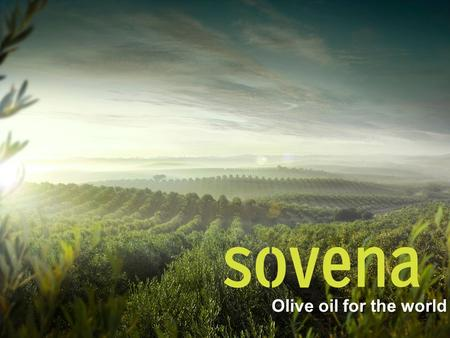Olive oil for the world. 2 Sovena Group: What we are today 100% family owned company 8 factories and 4 Olive Oil Mills More than 1,100 employees Exporting.