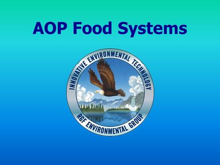 AOP Food Systems. AIR FOOD WATER MULTI POINT INTERVENTION STRATEGY.