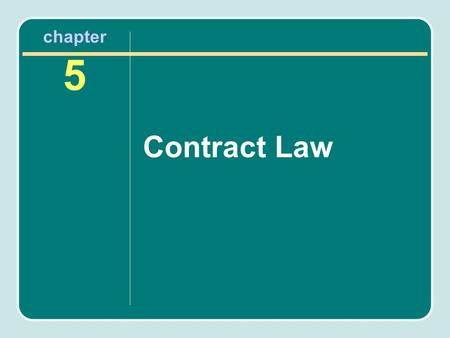 Chapter 5 Contract Law. Contracts Coaching contracts Player contracts Endorsement agreements Scholarships and letters of intent Concession agreements.