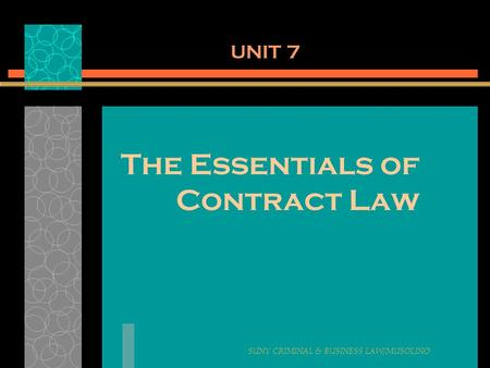 The Essentials of Contract Law