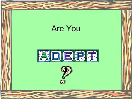 Are You (Click).