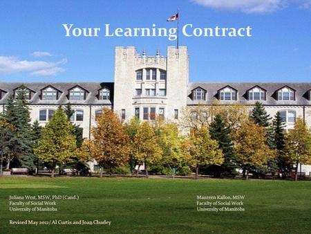 Your Learning Contract