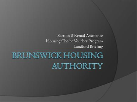 Brunswick Housing Authority