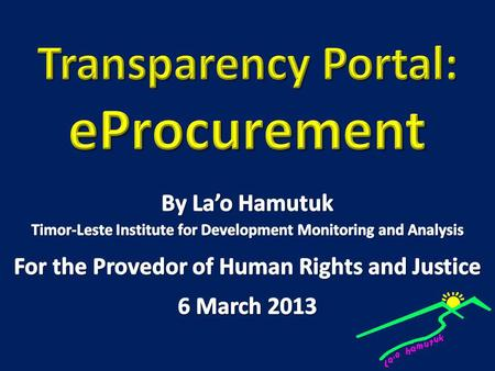 Why is procurement important?. 79% of state expenditures are through procurement.