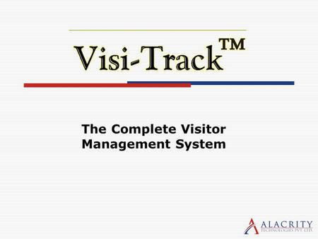 The Complete Visitor Management System