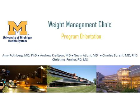 Weight <strong>Management</strong> Clinic