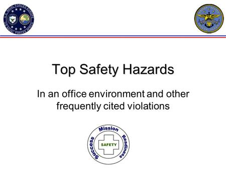 In an office environment and other frequently cited violations