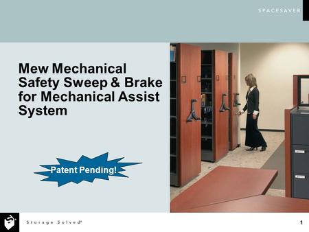 1 Mew Mechanical Safety Sweep & Brake for Mechanical Assist System Patent Pending!