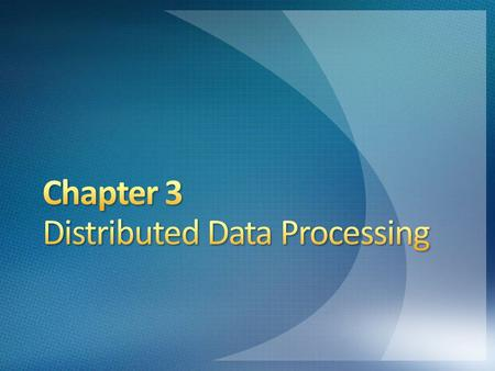 Data processing is done on one or on a cluster of computers located in a central data processing facility Users transmit data to the centralized data.