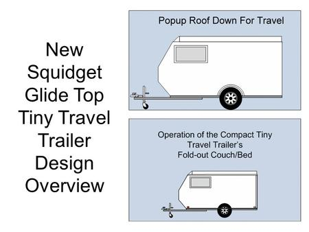 New Squidget Glide Top Tiny Travel Trailer Design Overview