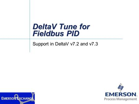 DeltaV Tune for Fieldbus PID