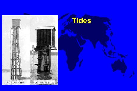 Tides. Tidal Characteristics u single waves - stretch across entire ocean basins. u shallow-water waves –wavelengths greatly exceed the depth of the ocean.