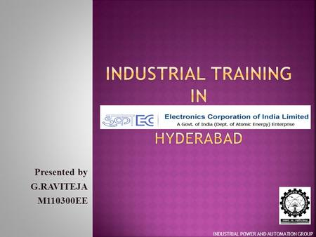 Industrial training in Hyderabad
