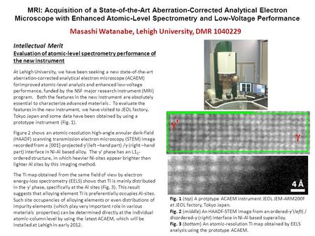 MRI: Acquisition of a State-of-the-Art Aberration-Corrected Analytical Electron Microscope with Enhanced Atomic-Level Spectrometry and Low-Voltage Performance.