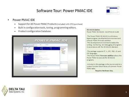 Software Tour: Power PMAC IDE