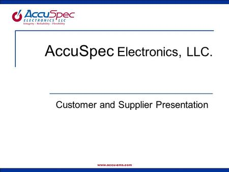 AccuSpec Electronics, LLC.