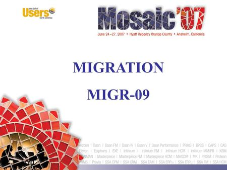 MIGRATION MIGR-09. How to Run Your Next Implementation... Don't Let It Run You! Patricia Johnson Senior Systems Consultant Strategic Systems Group, Inc.