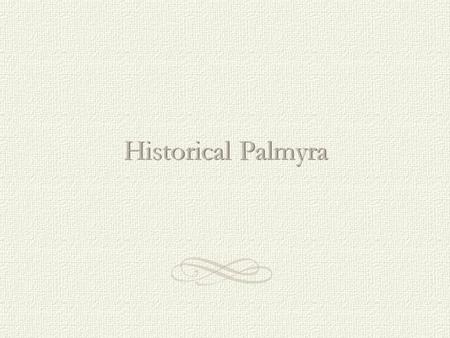 Historical Palmyra. This first Palmyra School dated 1874 was at the north end of Main Street on Illinois where the library now stands on the triangular.