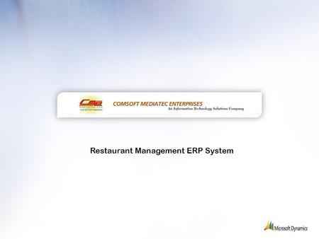 Restaurant Management ERP System