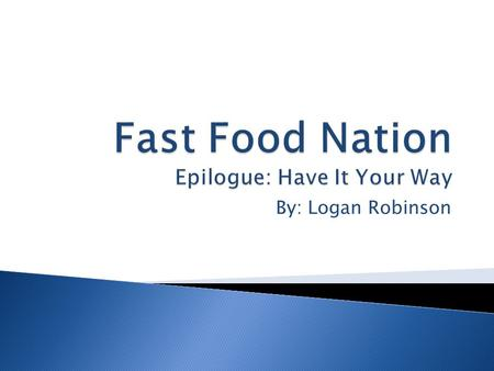 rhetorical analysis fast food nation why the fries taste good Have you ever wondered why french fries taste so good in fast food nation,  investigative journalist eric schlosser digs into the history, science and business .