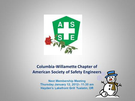 Columbia-Willamette Chapter of American Society of Safety Engineers