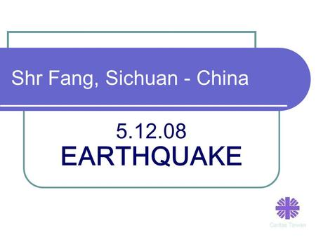Shr Fang, Sichuan - China 5.12.08 EARTHQUAKE. CARITAS – Taiwan volunteers distributed t-shirts, tents and school materials to the children.