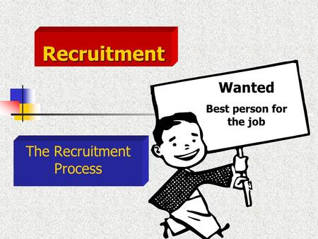 The Recruitment Process Wanted Best person for the job Recruitment.