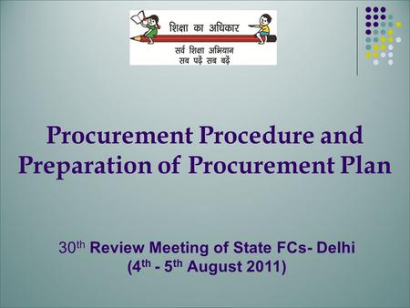Procurement Procedure and Preparation of Procurement Plan