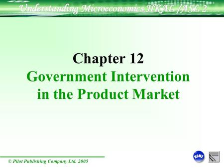 © Pilot Publishing Company Ltd. 2005 Chapter 12 Government Intervention in the Product Market.