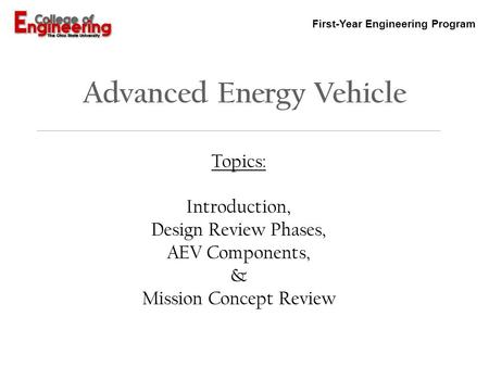 Advanced Energy Vehicle