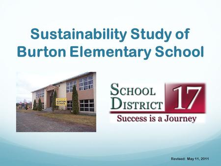 Sustainability Study of Burton Elementary School