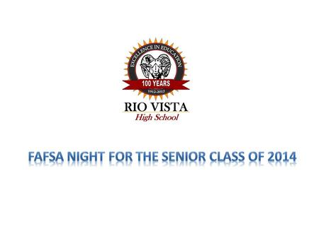 FAFSA Night for the Senior Class of 2014