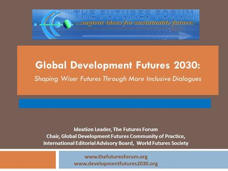 Global Development Futures 2030: