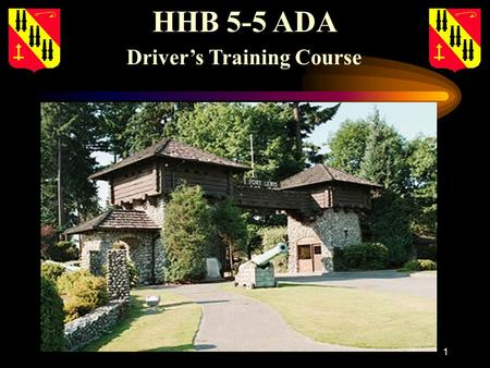 1 HHB 5-5 ADA Drivers Training Course. 2 Administrative notes: Agenda: Agenda: -Sign in -Course schedule/hand-outs -Written examination -Requirements.