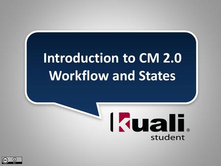 Introduction to CM 2.0 Workflow and States. 2 Demonstration and Definitions Mapping Workflow Gathering Members Topics.