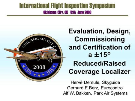 International Flight Inspection Symposium
